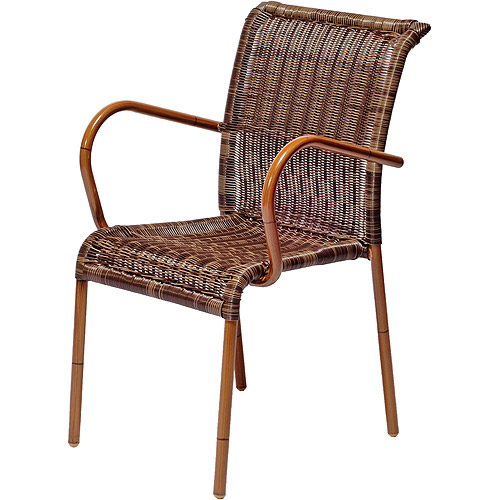 bamboo look mixed brown wicker caf 233 chair walmart