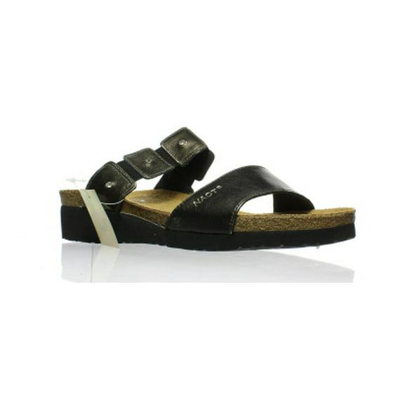 e376735f808b Naot - naot women s ashley black madras leather sandals 37 eu   6-6.5 us m  us - Walmart.com