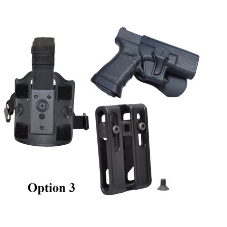 Tactical Scorpion Gear: Fits Glock 19 23 32 Level II Polymer Paddle Holster (Glock 19 Remora Holster)
