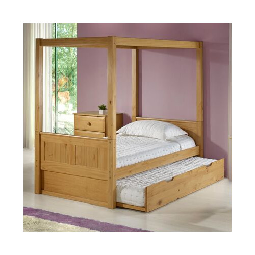 Camaflexi Camaflexi Full Canopy Bed with Trundle