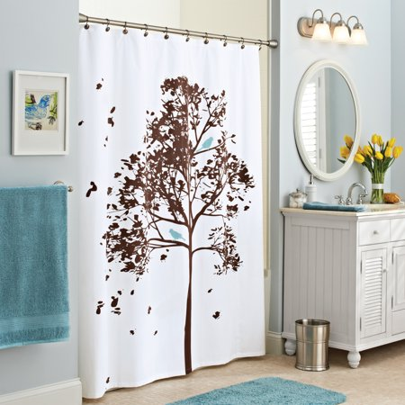 Better Homes and Gardens Farley Tree Fabric Shower Curtain - Walmart.com