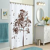 Better Homes & Gardens Farley Tree Fabric Shower Curtain, 1 Each