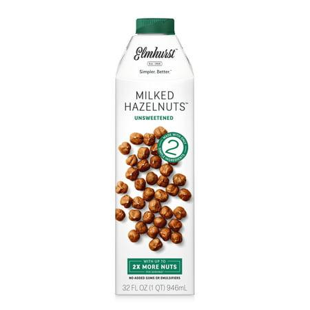 Elmhurst Unsweetened Hazelnut Milk, 32 fl oz