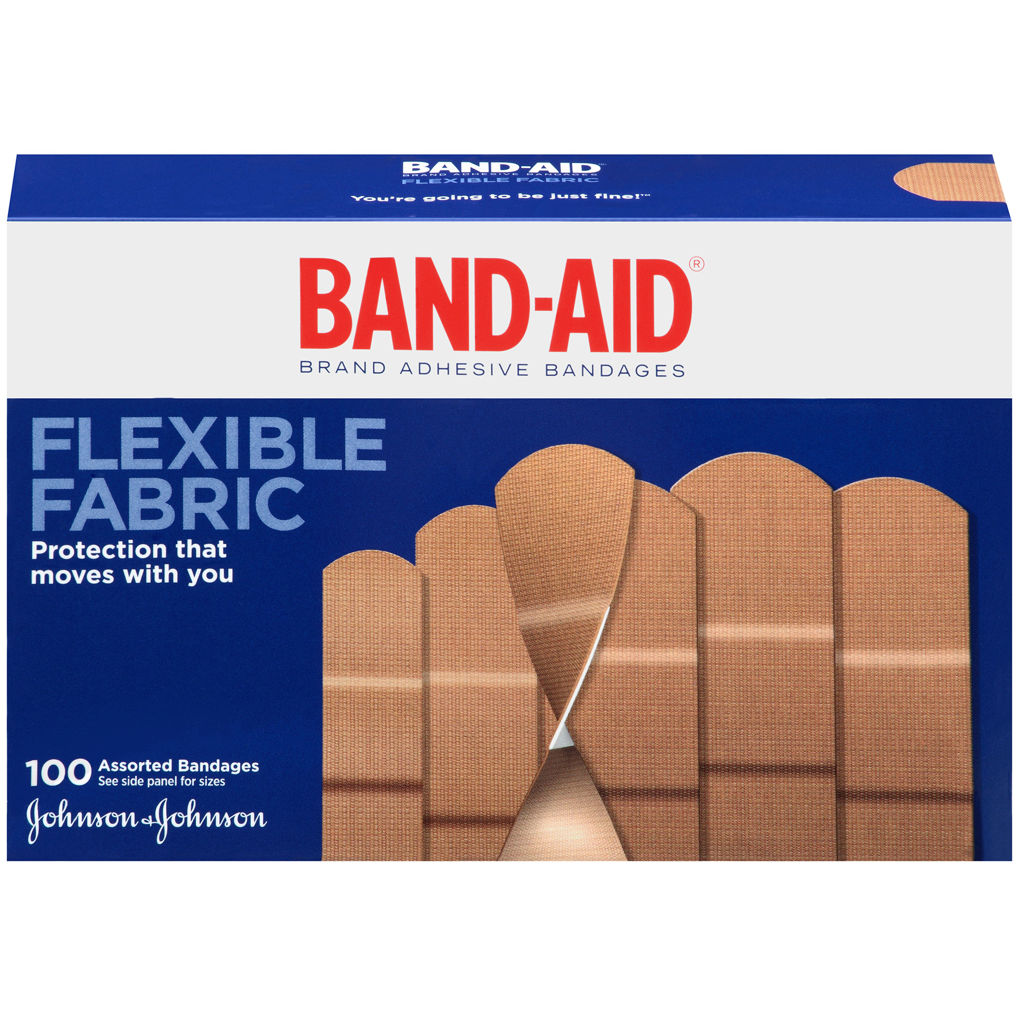 Band-Aid Flexible Fabric Assorted Bandages, 100 count