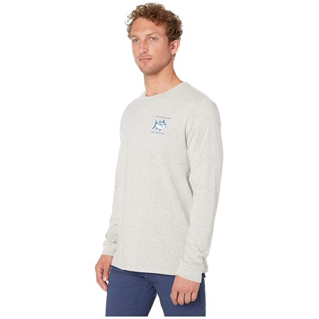 Southern Tide Heather Original Skipjack Long Sleeve T-Shirt Heather Light Grey