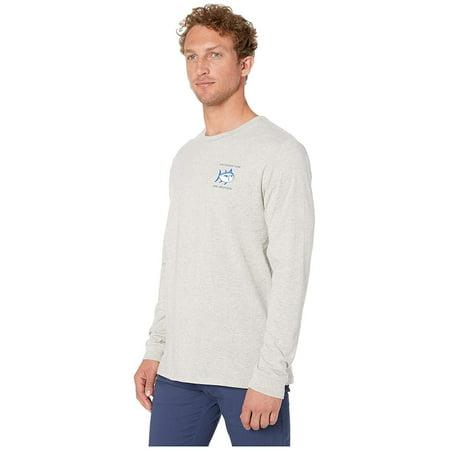 Southern Tide Heather Original Skipjack Long Sleeve T-Shirt Heather Light Grey ()