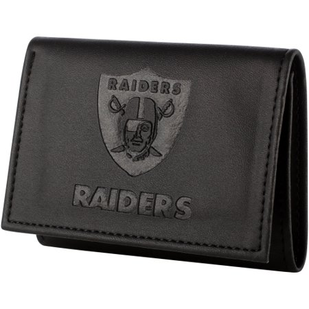 Oakland Raiders Hybrid Tri-Fold Wallet - Black - No -