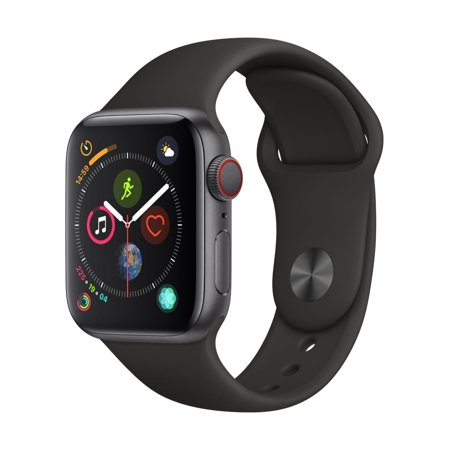 Demo 44mm Apple Watch Series 4 GPS+Cellular Space Gray Case / Black Sport Band