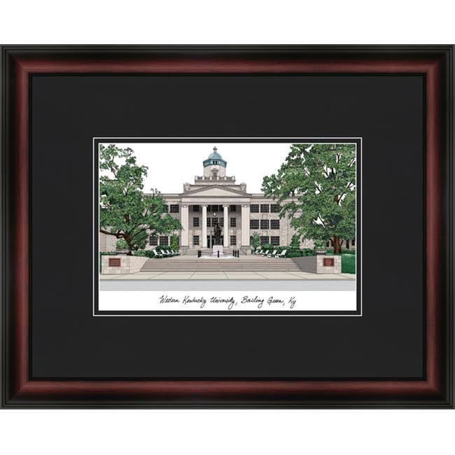 Campus Images KY996A 18'' x 14'' Western Kentucky University Academic - Satin Mahogany