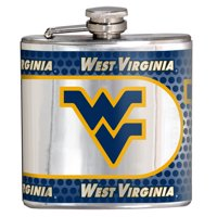 West Virginia Mountaineers 6oz. Stainless Steel Hip Flask - Silver