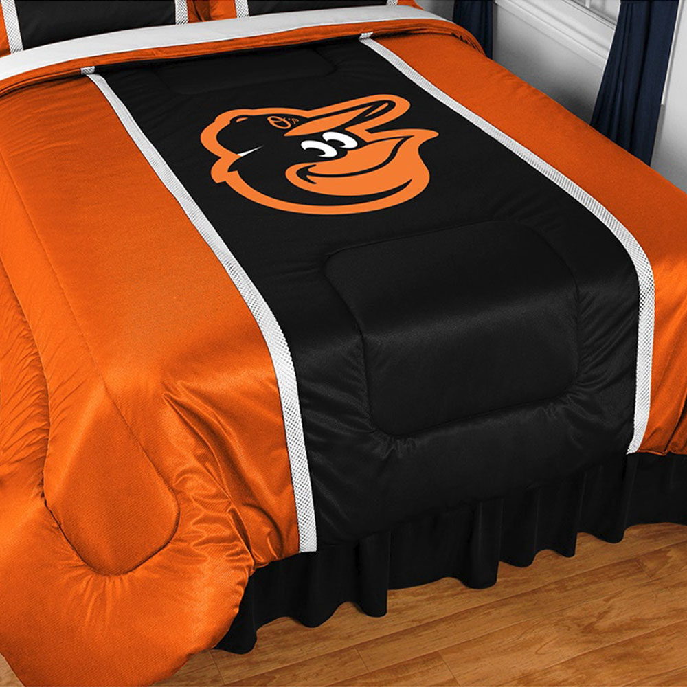 MLB Baltimore Orioles Comforter Bird Logo Bedding
