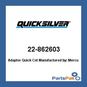 New Mercury Mercruiser Quicksilver Oem Part # 22-862603 Adaptor-Quick Cnt
