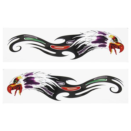 (Unique Bargains 2 Pcs Self Adhesive Colored Eagle Design Sticker Ornament for Car)