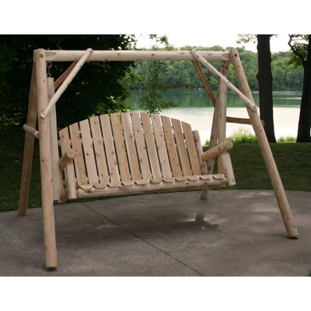 - Lakeland Mills Country Garden Porch Swing with Stand