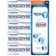 Sensodyne Repair and Protect Toothpaste, 5 pack. 3.4 oz Each.