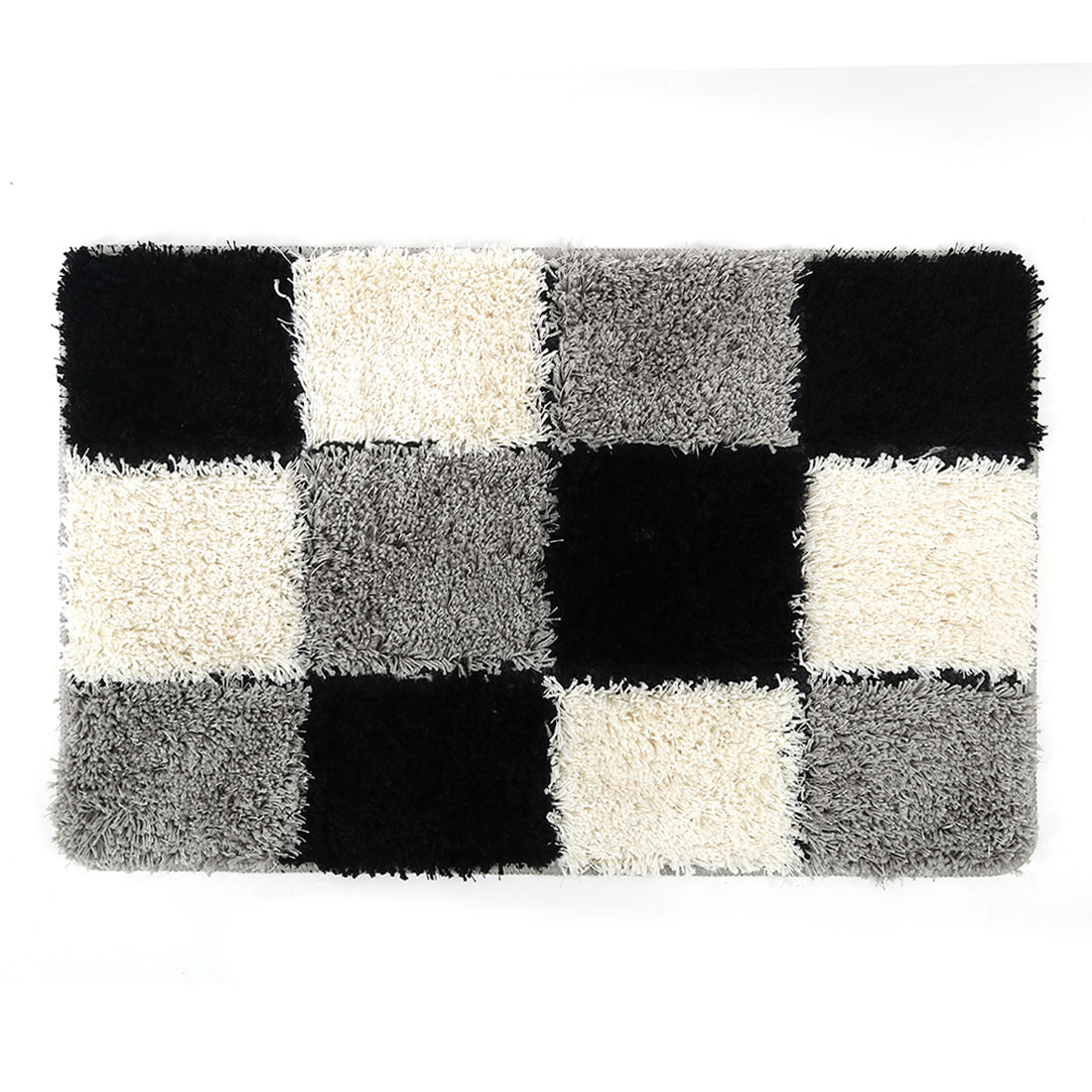 Non Slip Grid Area Rug Carpet For Home Bath Rugs Mat Blue