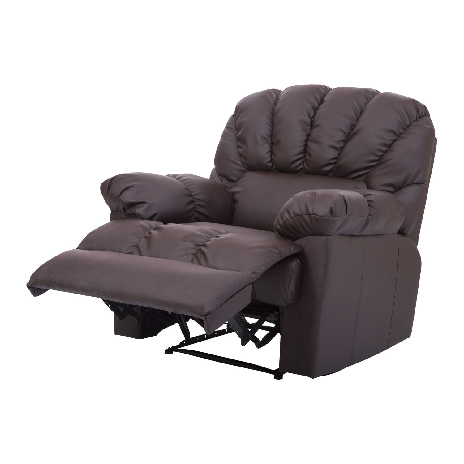 Hom PU Leather Vibrating Massage Sofa Chair Recliner Brown