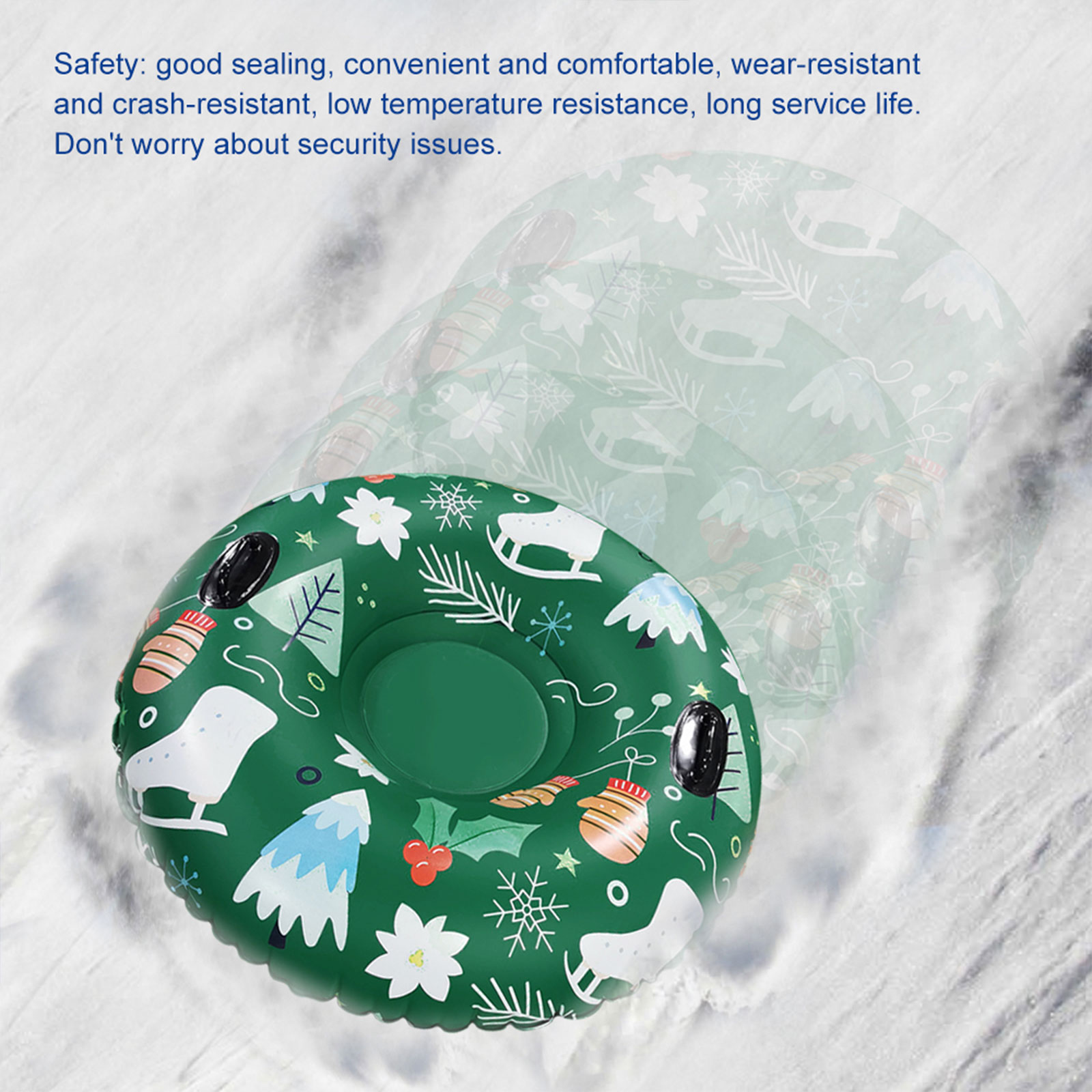 Large Thick Snow Sled Sledding Board With Handles For Skating Winter Outdoor Fun Sanmubo Snow Tube Inflatable Heavy Duty Inflatable Snow Sled For Kids Adults