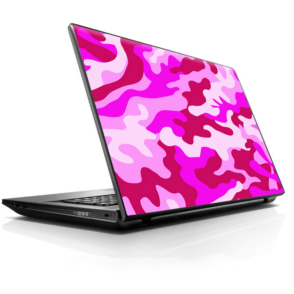 """Laptop Notebook Universal Skin Decal Fits 13.3"""" To 16"""" / Pink Camo, Camouflage"""