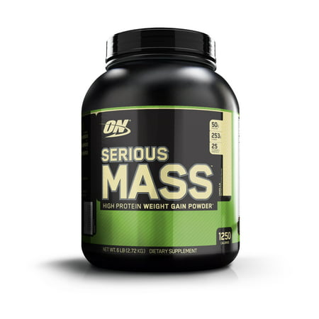 Optimum Nutrition Serious Mass Protein Powder, Vanilla, 50g Protein, 6lb,