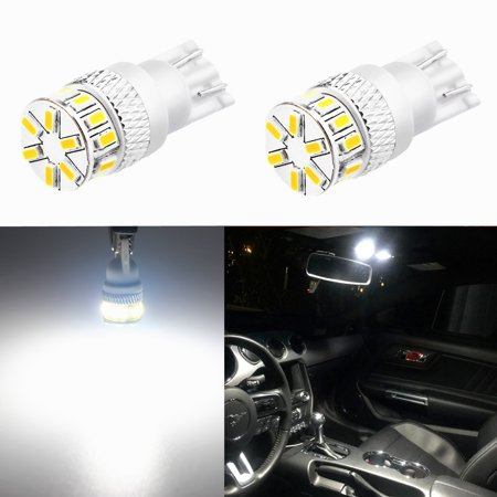 Alla Lighting 194 LED Bulbs 6000K Xenon White Xtreme Super Bright 12V LED 194 Bulb High Power 4014 SMD T10 W5W 2825 168 194 LED License Plate Interior Map Dome Exterior Side Marker Lights (Set of (2 Piece T10 Bulbs)