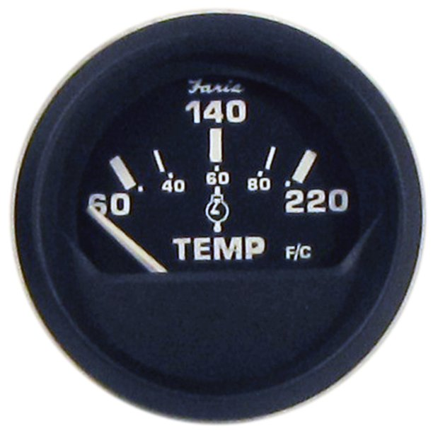 Faria 12819 Euro Cylinder Head Temperature Gauge with Sender - 2""