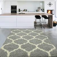 Sweet Home Stores Cozy Moroccan Trellis Design Contemporary Living & Bedroom Soft Shag Area Rug