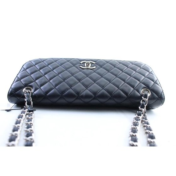ca0a35d33f66 Chanel - Jumbo In-the-business Flap 14cr0306 Black Quilted Lambskin  Shoulder Bag - Walmart.com