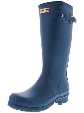 Hunter Original Kids Navy Mid-Calf Rubber Rain Boot - 1M