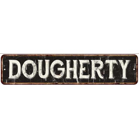 Dougherty Street Sign Rustic Chic Sign Home Man Cave Decor Gift Black G41804218