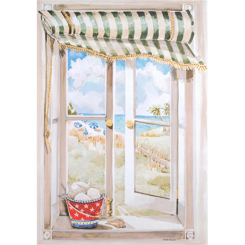 Stupell Industries Seascape Faux Window Scene Original Painting Plaque