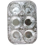 10 Pack Foil 6 Cavity Aluminum Pan Cake Mold Muffin Cupcake Disposable Container