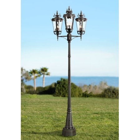 John Timberland Traditional Outdoor Post Light Textured Black 100