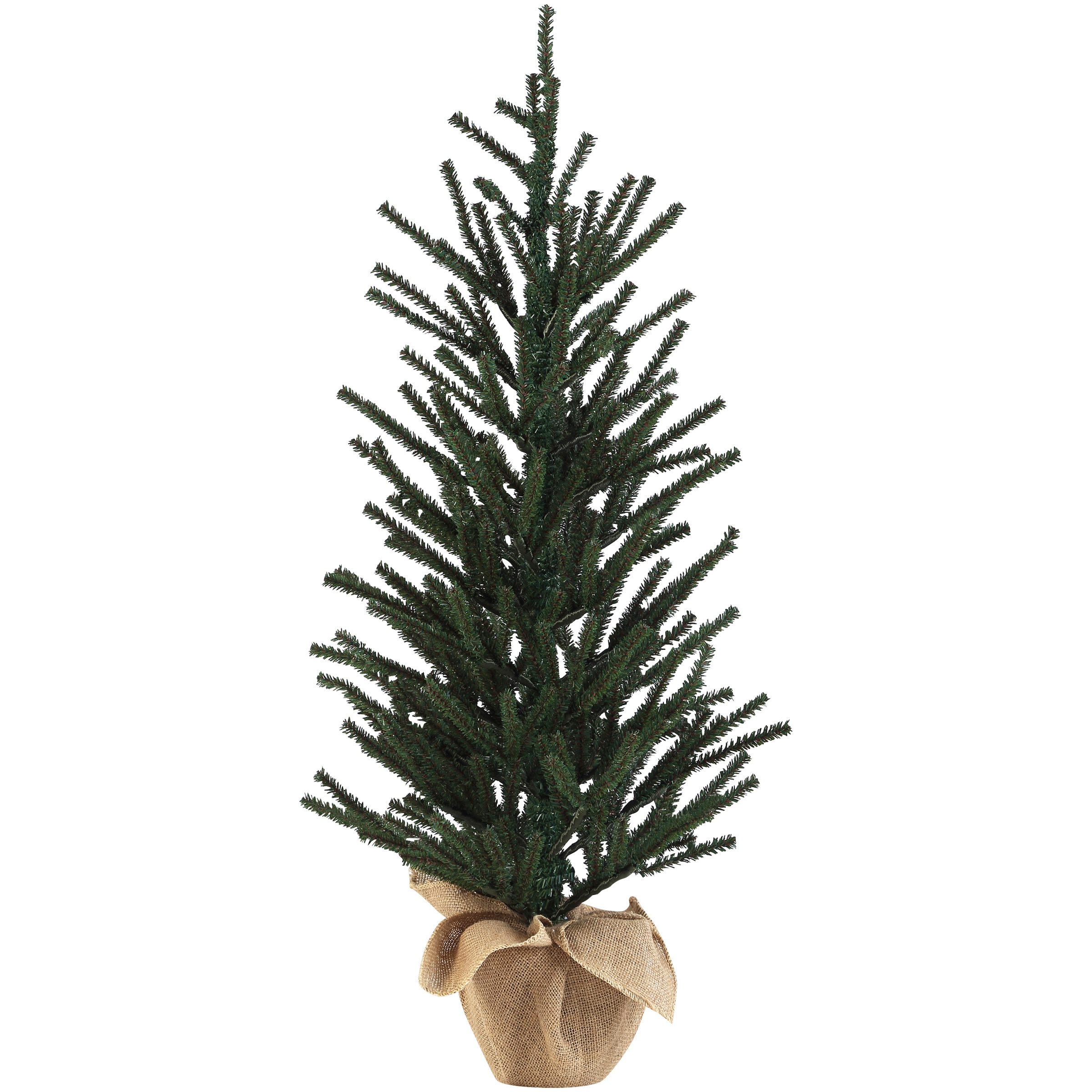 3 foot christmas tree with lights pre lit holiday time 3foot green tree classic design with burlap pot