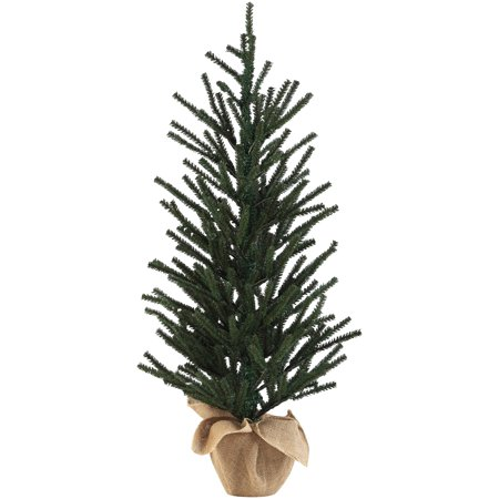 Potted Christmas Tree.Holiday Time Unlit Potted Christmas Tree 3 Ft Green