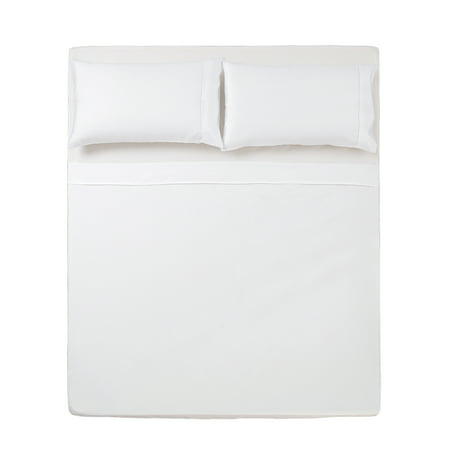 3 PC TWIN SHEET SET MICROFIBER SOLID WHITE -SERIES 1400- Custom Series Solid Shell