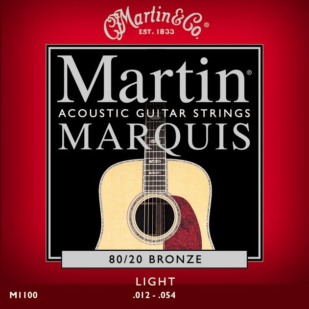 Martin M1100 Marquis Light 12-54 Acoustic Guitar Strings