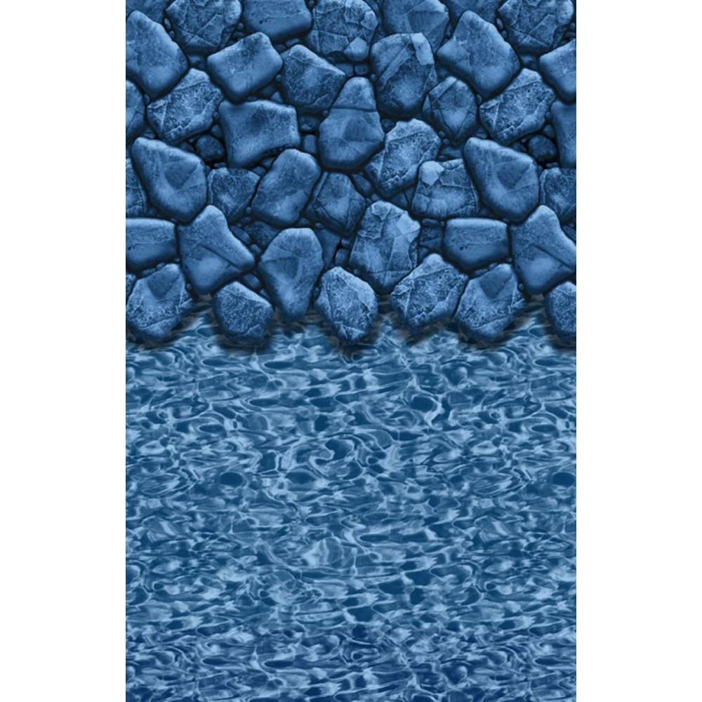 BlueWave LINERS NL364432 18' x 33' Oval Boulder Swirl Heavy Gauge Overlap Liner