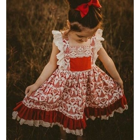 Christmas Dresses For Children (Canis Toddler Kids Baby Girls Deer Floral Party Pageant Christmas Dress)