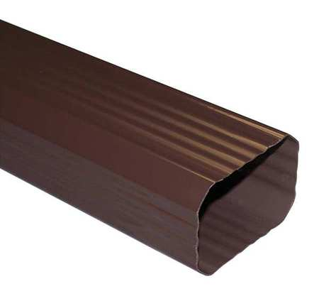 Genova 10 ft. PVC Downspout, Brown Brown  PVC  AB200