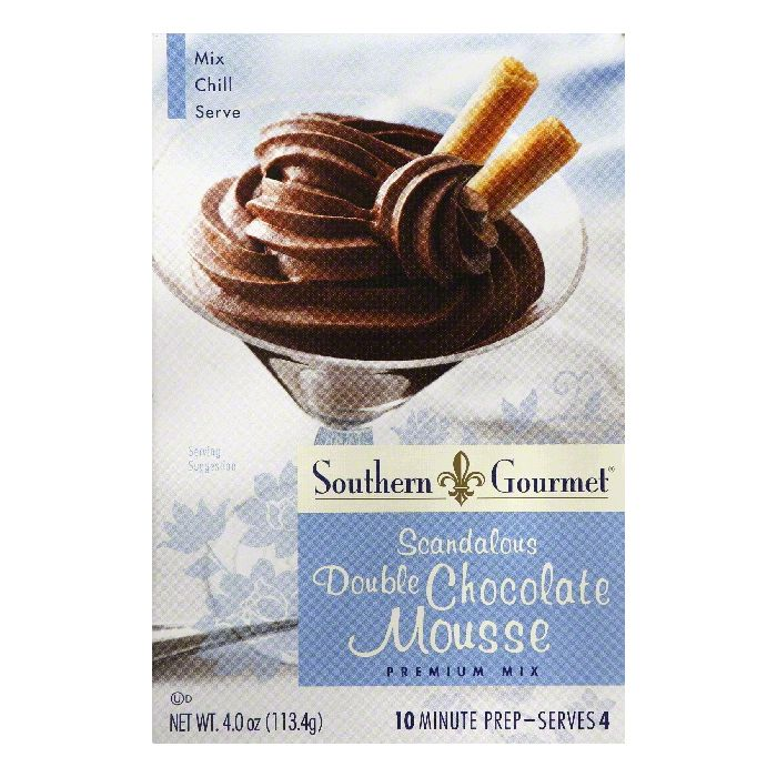 Southern Gourmet Scandalous Double Chocolate Premium Mousse Mix, 4 Oz (Pack of 6) by