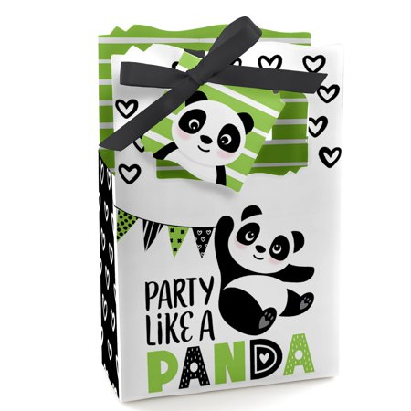 Party Like a Panda Bear - Baby Shower or Birthday Party Favor Boxes - Set of 12](Panda Bear Party Supplies)