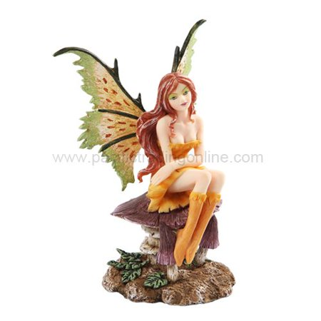 *New* 2013 Amy Brown Fantasy Little Mae Faery Mushroom Fairy Statue Enchanted 6