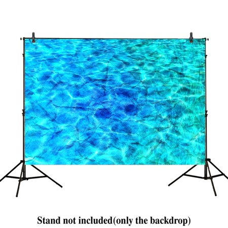 HelloDecor Polyster 7x5ft photography backdrops party ocean summer beach swimming pool water ripple Birthday banner photo studio booth background newborn baby shower photocall (Beach Party Backdrop)