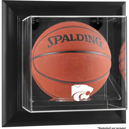 NCAA - Kansas State Wildcats Framed Wall Mountable Basketball Display Case