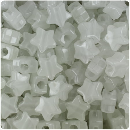 BeadTin Night Glow-in-the-Dark 13mm Star Pony Beads (250pcs)](Plastic Star Beads)