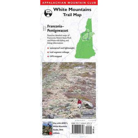 ISBN 9781934028551 product image for Appalachian Mountain Club Franconia-Pemigewasset: White Mountains Trail Map | upcitemdb.com