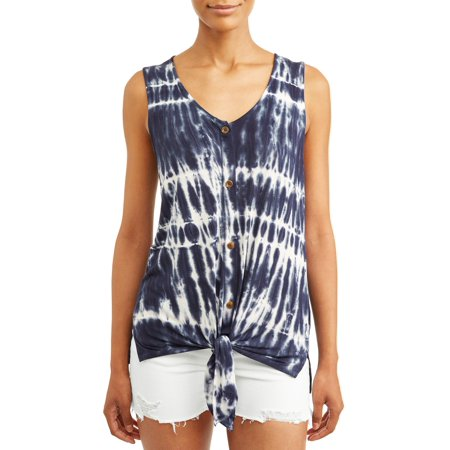Women's Tie Dye Button Front Tank Tee - Tie Dye Shirts For Sale
