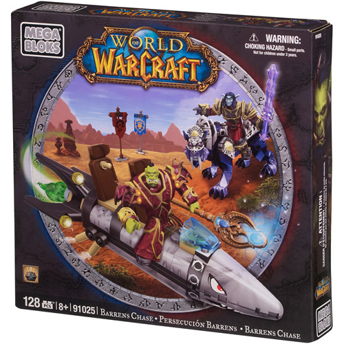 Mega Bloks World of Warcraft Barren Lands Chase Play Set