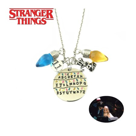 Stranger Things Necklace Pendant - ABCs - TV Series Show Cosplay Jewelry by Superheroes ()